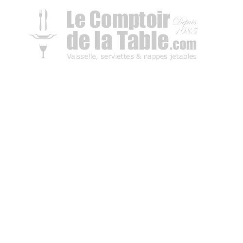 Chemin de table aspect tissu 0.30x24 m clémentine