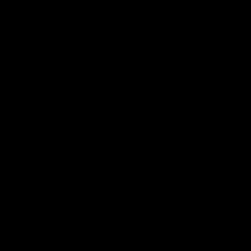 """Serviette de table intissée 40 cm x 40 cm décorée """"Fougère Orange"""""""